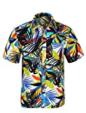 APTRO Men's Hawaiian Shirt Printing Short Sleeved Aloha Shirts