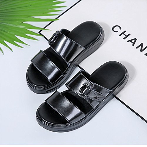 Womens Fashion Fish Mouth Sandals Platform Wedges Casual Shake Shoes Black Js0Qk8Ilyq