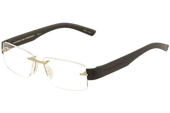 4dde2c6dbb Amazon.com  Porsche Design eyeglasses P8206 A Titanium Gold - Grey ...