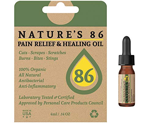 Nature's 86 Organic First Aid. Best Burn Relief for Fast Healing and Pain. Natural Antibacterial and Antibiotic. #1 Healing Ointment for Burns, Bug Bites, Cuts. Stop Itching and Reduce Inflammation ()