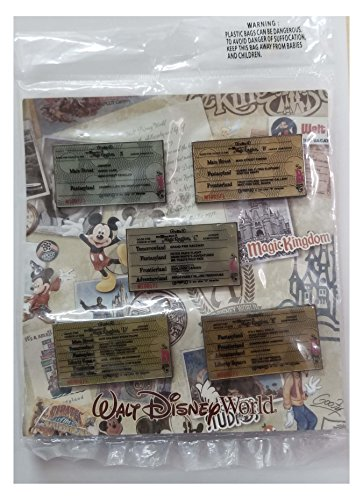 Disney Pin Set - WDW - Booster Collection - Walt Disney World 40th Anniversary - Ticket Book Set