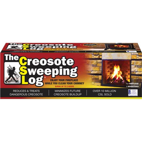 The Creosote Sweeping Log For Woodstoves & Fireplaces for...