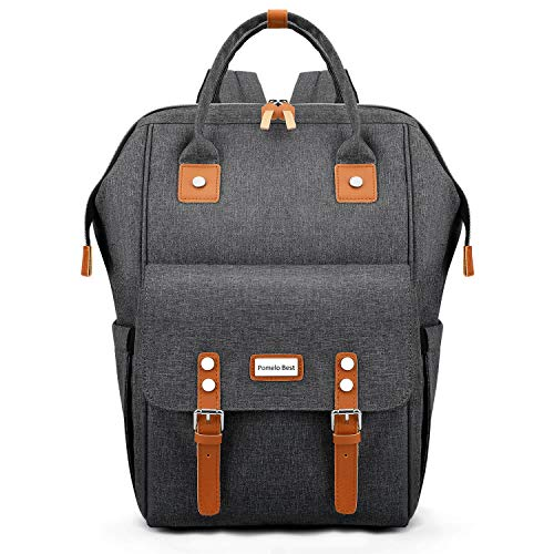 Backpack Diaper Bag, Multiple Pockets Diaper Backpack with Changing Pad and Stroller Straps (Dark Gray)
