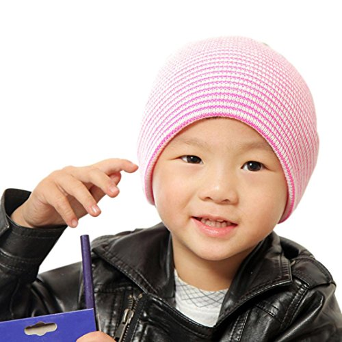 Price comparison product image OVERMAL Baby Beanie Boy Girls Soft Hat Children Winter Warm Kids Knitted Cap (Pink)
