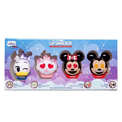 Lip Smacker Disney Emoji Lip Balm 4 Pack, Mickey, Minnie, Marie and Daisy, 2 Count