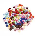 SODIAL-100PCSLot-Mini-Handmade-Satin-Ro-Ribbon-Rottes-Fabric-Flower-Appliques-For-Wedding-Decoration-Craft-wing-Accessories