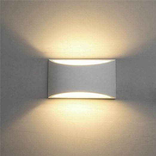 LARRY SHELL Apliques de Pared LED, Accesorios de iluminación Modernos Lámparas de Pared de Yeso para Interiores 7W 2700K Blanco cálido, para Escalera Dormitorio Sala de Estar Pasillo Porche Oficina: Amazon.es: Hogar