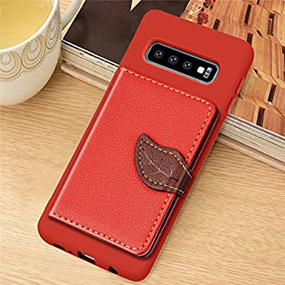 IKASEFU Compatible with Samsung Galaxy S10 Silicone Case Pu Leather Leaf style Wallet Strap Case Card Slots Shockproof Magnetic Flip Stand Function Protective Soft Bumper Cover Case,red: Musical Instruments