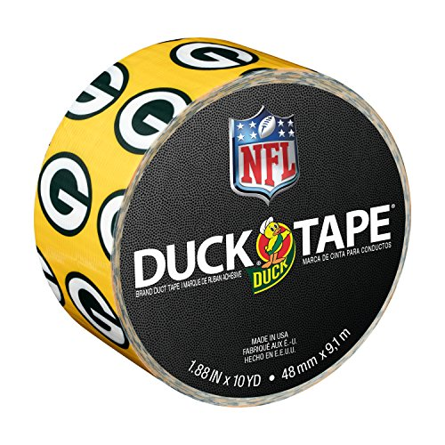 Duck Brand 241413 Green Bay Packers NFL Team Logo Duct Tape, 1.88-Inch by 10 Yards, Single ()