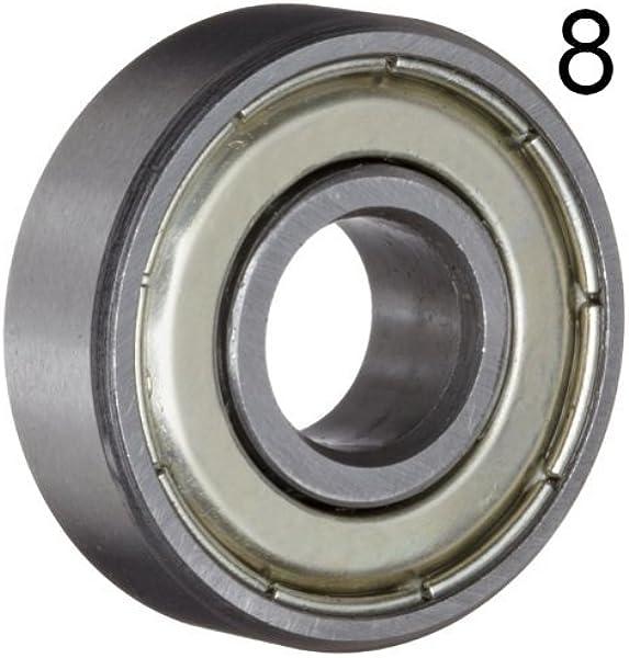 608ZZ 8x22x7 Shielded Greased Miniature Ball Bearings 608 ZZ