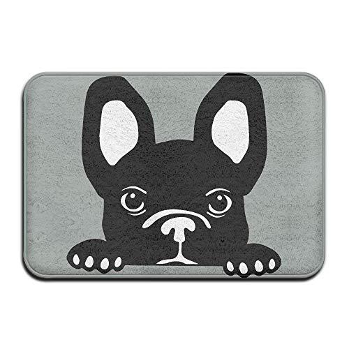 wangsajko French Bulldog Peeking Indoor Entrance Rug Non Slip Car Floor Mats Doormat Rugs Home