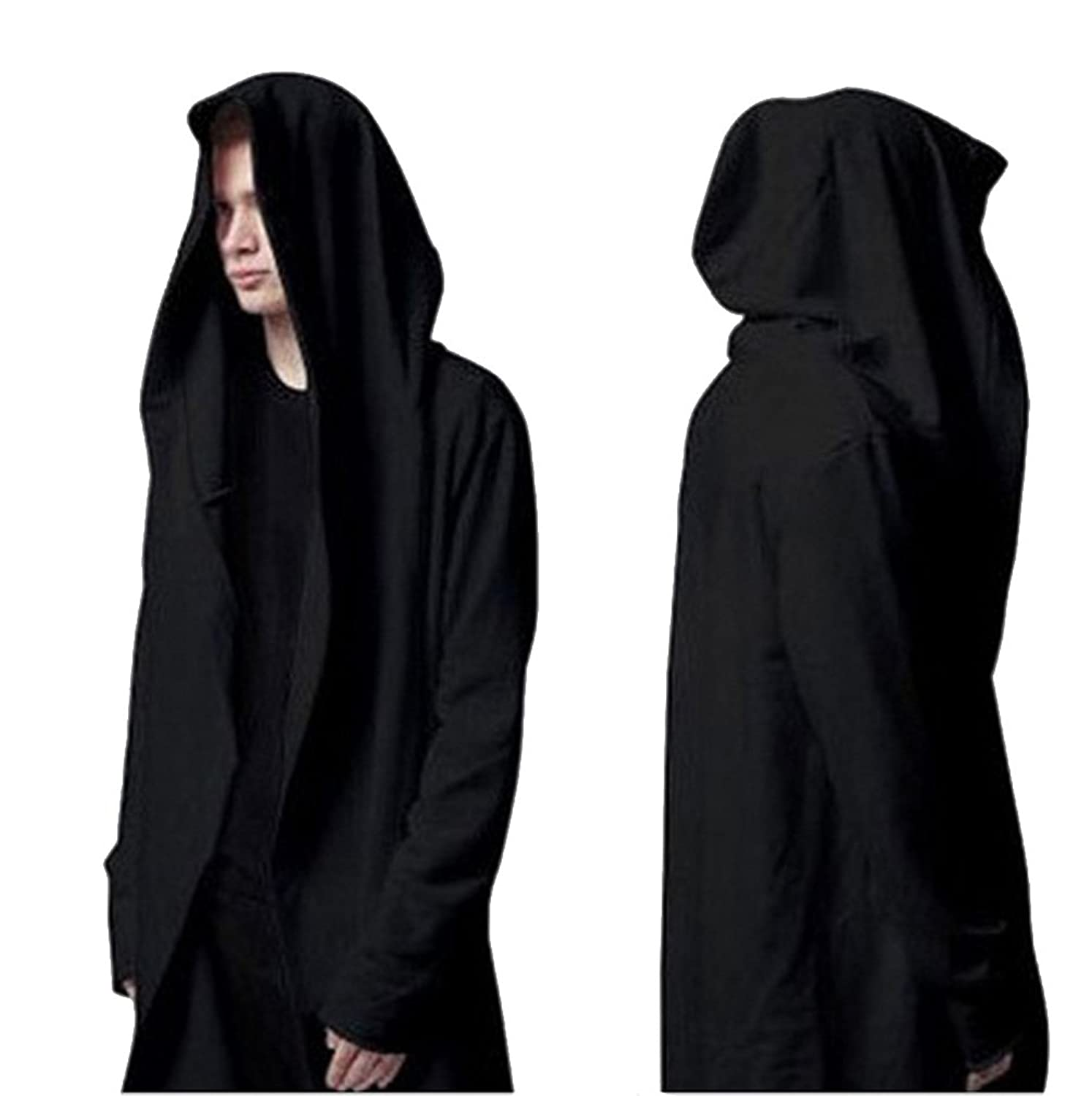 Amazon.com: Weiyi Men's Long Hooded Cape - Black: Clothing