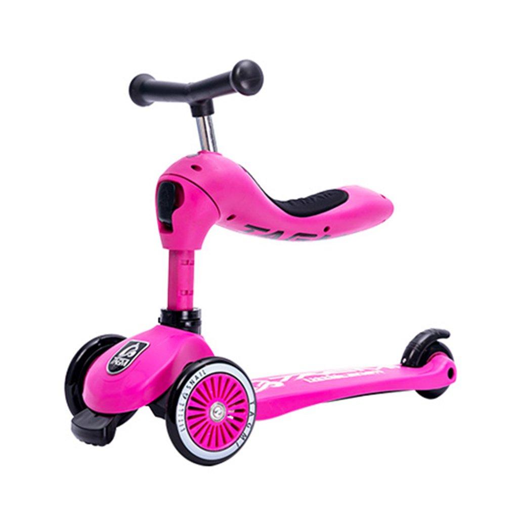 当店の記念日 スクーター子供たち多機能ベビーウォーカー四輪折りたたみはおもちゃを座らせることができますヨーヨー車のフラッシュホイール3-12歳 B07FYKVFHH B07FYKVFHH Pink Pink Pink Pink, 茨城県古河市:4f8301cd --- a0267596.xsph.ru