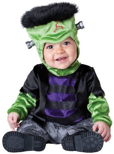 InCharacter Costumes Baby's Monster-Boo Costume, Black/Green, (Monsters Inc Boo Costume For Baby)