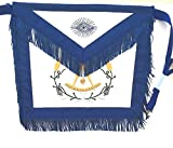 D3560F Apron Masonic Past Master w/ Wreath + Fringe
