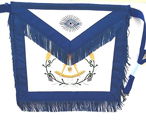 D3560F Apron Masonic Past Master w/ Wreath + Fringe by DEAN & ASSOCIATES