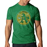 MLB Oakland Athletics Men's Cooperstown Scrum Basic Tee, X-Large, Kelly
