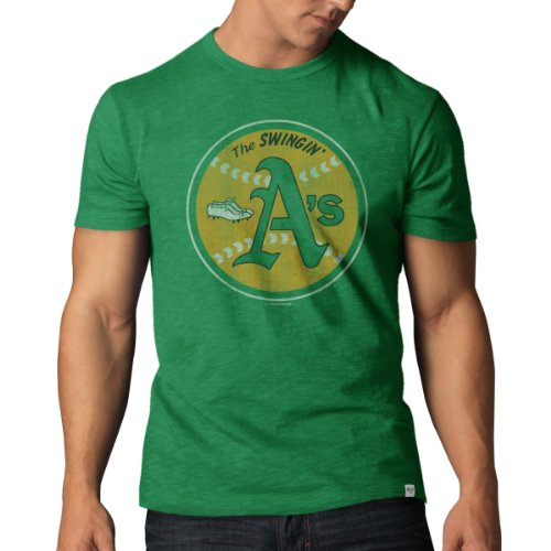 Vintage Sport Shirt (MLB Oakland Athletics Men's '47 Basic Scrum Tee, Kelly Green, Medium)