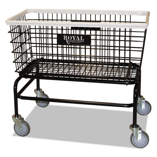 Large Wire Laundry Cart, 19 X 37 3/4 X 33 1/2, 300 Lbs. Capacity, Black