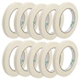 uxcell 10pcs Adhesive Paper Painting Writing Decoration Tape White 1.2cm x 50M Length