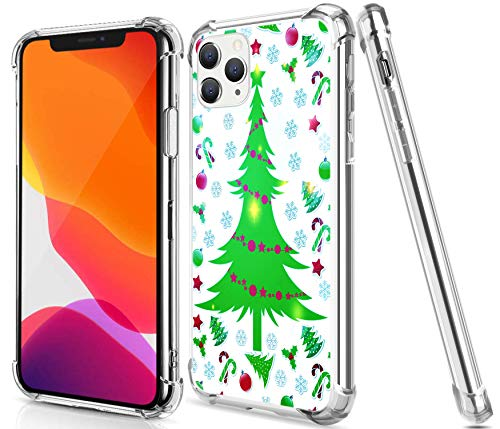 Christmas Case for iPhone 11 Pro Max,Gifun Drop Protection TPU + Hard PC Offer Stronger Protective Case with Design Christmas for 2019 iPhone 11 Pro Max 6.5