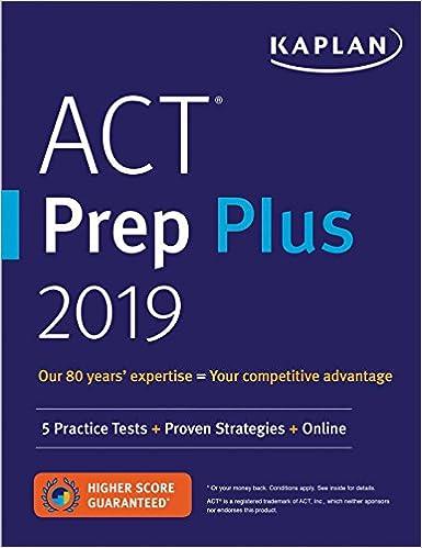 Amazon act prep plus 2019 5 practice tests proven strategies act prep plus 2019 5 practice tests proven strategies online kaplan test prep fandeluxe Images