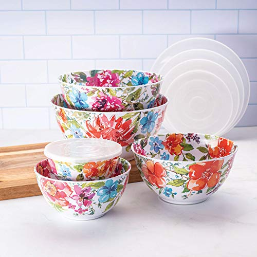 Dinnerware Bowl Mixing - Member's Mark Melamine 10-Piece Mixing Bowl Set - Floral