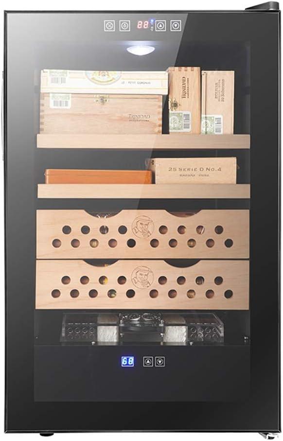 ヒュミドール葉巻ヒュミドール/シーダーウッド恒温キャビネット/電源50W、電圧220V /タッチ操作/ 4レイヤー/サイズ73.5x45.2x52cm /ブラック
