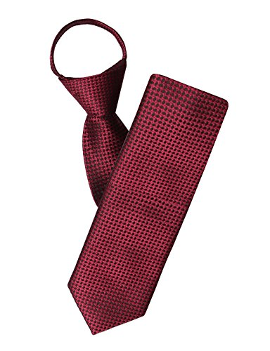 H2H Mens Comfortable Zipper Various Patterned Neck Tie Wine NONE ()
