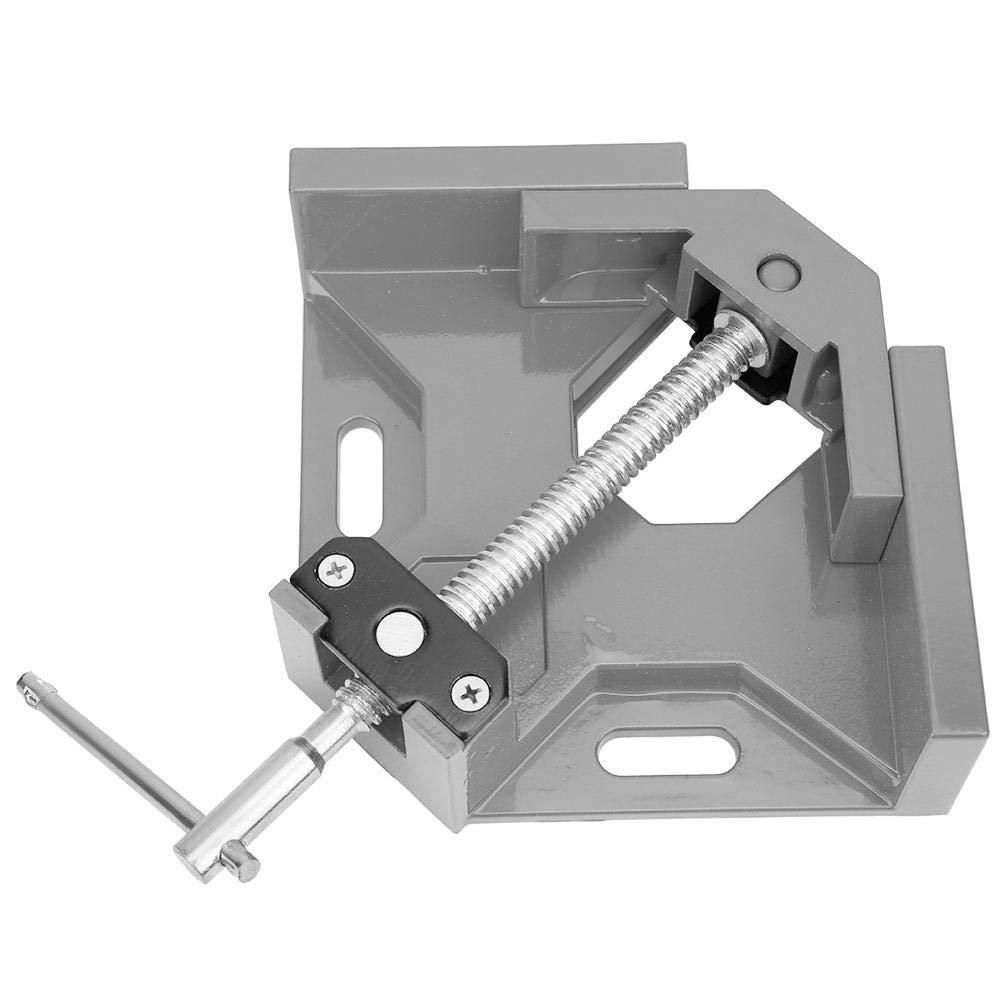 Silver Morsetto ad angolo retto lega di alluminio Morsetto ad angolo retto a 90 gradi Manico a T Morsetto per falegnameria Strumento per carpentiere