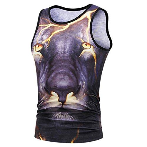 sin Verano Ai gr mangas Lion Camisetas 3d Men con sin Casual mangas Camisetas Chaleco moichien deportivo ZFFrzHOcwX