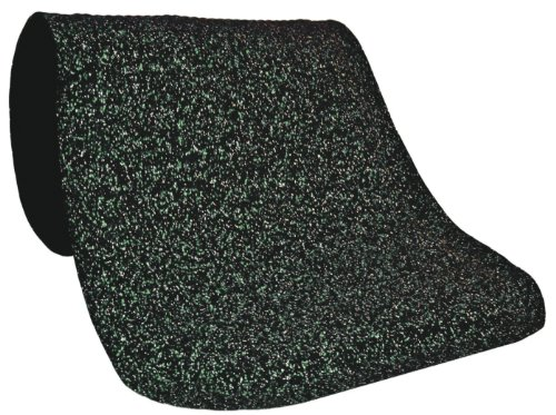 Andersen 444 Green Nitrile Rubber Hog Heaven Confetti Anti-Fatigue Mat with Black Border, 5' Length x 3' Width x 7/8