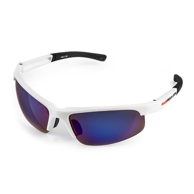 Sportbrille Sonnenbrille Schwarz Blau Verspiegelt UV400 HSE SportEyes