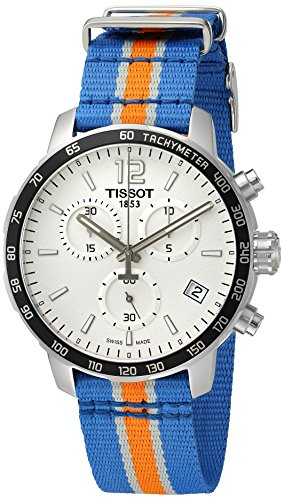 - Tissot Men's 'Quickster' Swiss Quartz Stainless Steel and Nylon Watch, Multi Color (Model: T0954171703706)