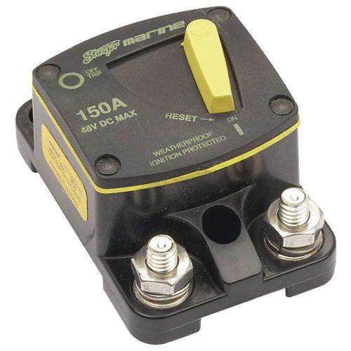 (1 - Marine Circuit Breaker (150 Amp), Weatherproof, Marine-certified ignition protection,)
