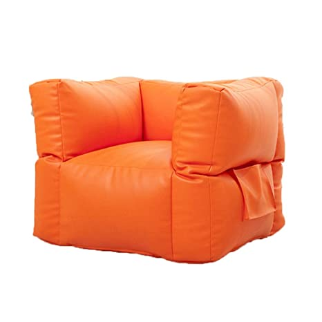 Stupendous Amazon Com Ff Square Bean Bags And Leather Pu Lazy Sofa Bralicious Painted Fabric Chair Ideas Braliciousco
