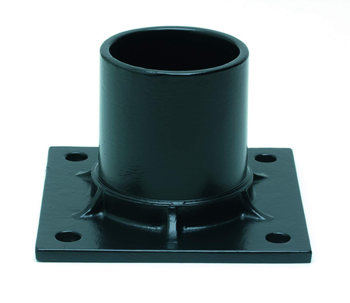 Solo Lights Black Aluminum Pier Mount Adapter Base for 3'' Diameter Stub Post. Mounting Hardware Included