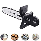 EKER Electric Chain Saw Converter 11.5'' Chainsaw Bracket Tree Felling Saw Changed Angle Grinder into Chain Saw Woodworking Tool for Electric Angle Grinder (4-1/2'')