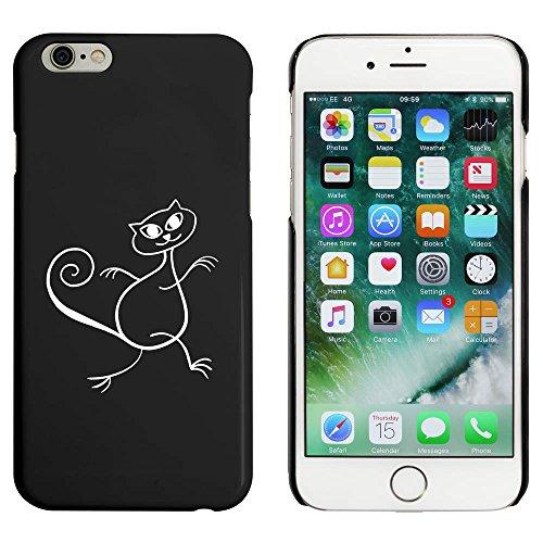 Schwarz 'Tanzende Katze' Hülle für iPhone 6 u. 6s (MC00001353)