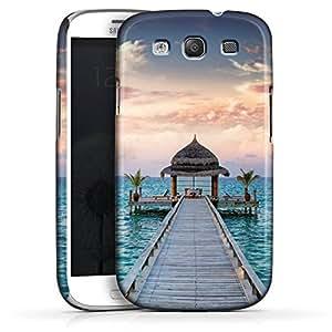 Carcasa Design Funda para Samsung Galaxy S3 i9300 / LTE i9305 PremiumCase white - Paradise Ocean
