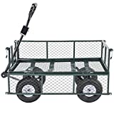 Mecor Garden Dump Cart with Flat Free Tires 660lbs Multifunctional Pulling Wagon