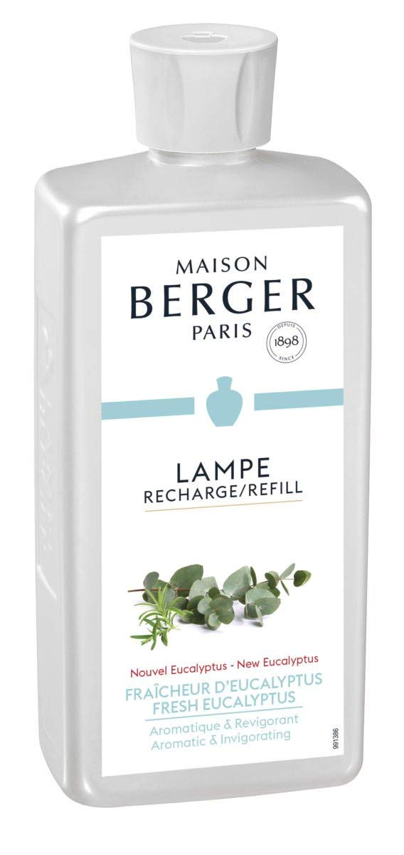 Maison Berger (Lampe Berger - New Fresh Eucalyptus Fragrance - Aromatic & Invigorating - 16.9 Ounce/Nonreturnable Item/Can Not Be Shipped Into California by Maison Berger (Image #1)
