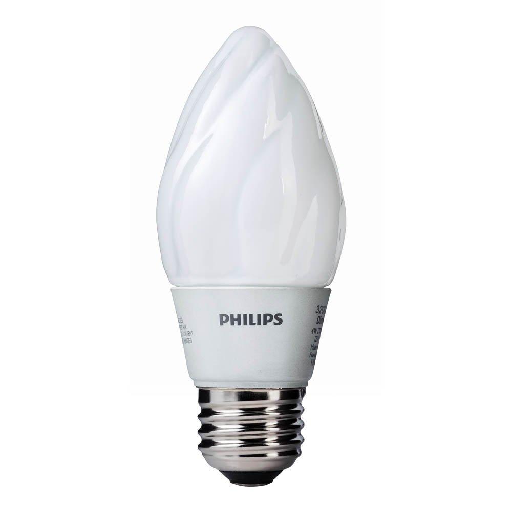 Philips 423772 4-Watt (40-Watt) F15 LED Post Light 2700K Light Bulb ...