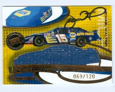 Autograph Warehouse 104630 Michael Waltrip Autographed Race Used Trading Card Nascar Auto Racer 2005 Press Pass Eclipse No. Uct10 Used Car Cover