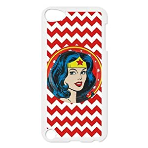 DIY Wonder Woman Custom Case Shell Cover for IPod Touch 5 TPU (Laser Technology)