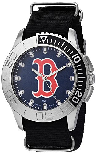 (Game Time Men's 'Starter'  Metal and Nylon Quartz Analog  Watch, Color:Black (Model: MLB-STA-BOS))