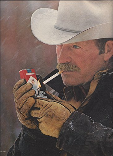 1985-print-ad-for-marlboro-come-to-where-the-flavor-is-cowboy-in-hat-lighting-up