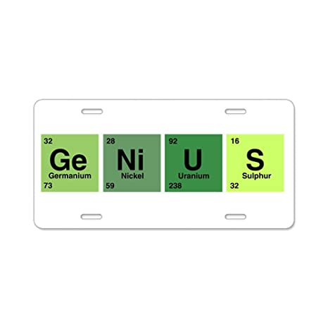 Amazon Aluminum License Plate Genius Periodic Table Of Elements