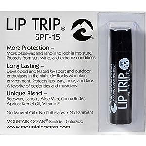 Mountain Ocean Lip Balm - Lip Trip - SPF 15 - .165 oz - Case of 12