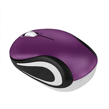 Wireless Mouse Mini 2.4 Ghz Wireless Portable Optical Mouse Mice For Pc Laptop Notebook With Usb Receiver Purple